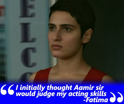 fatima shaikh and sanya malhotra exclusive interview i thought ak would judge my acting skills