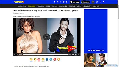 exes clap each other legal notices kangana ranaut and hrithik roshan