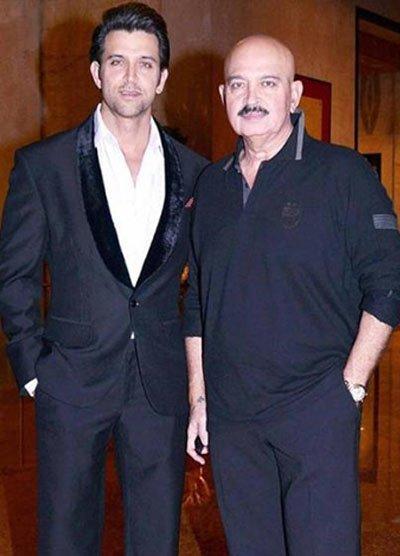 hrithik roshan with father rakesh roshan
