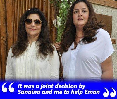 pinky roshan and sunaina roshan help eman