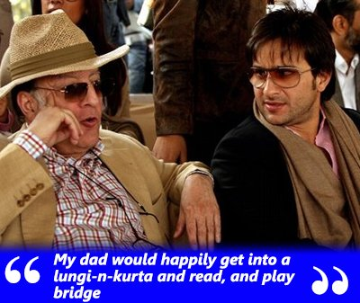 saif ali khan with his dad
