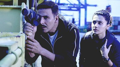 an intense scene in naam shabana movie featuring akshay kumar and taapsee pannu