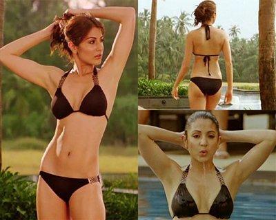 anushka sharma in a black bikini