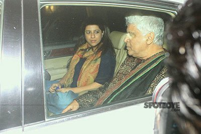 Javed and Zoya Akhtar at Dear Zindagi Screening