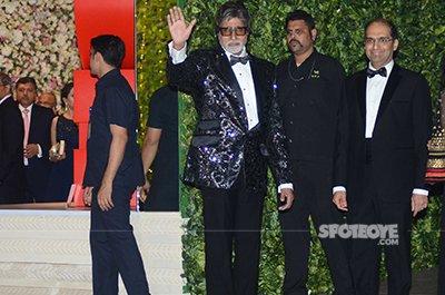 Amitabh Bachchan at ambani bash