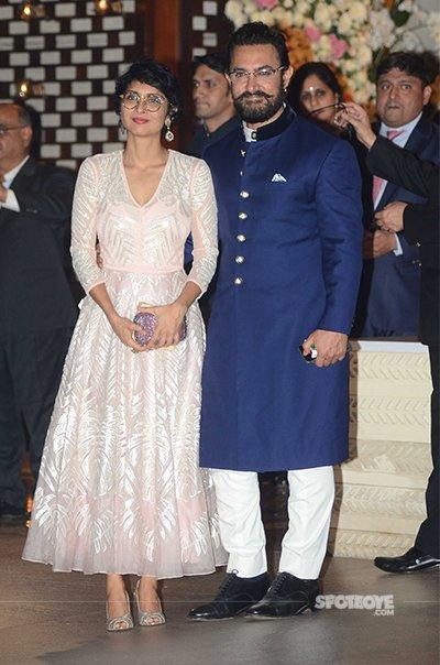 Kiran Rao and Aamir Khan at Ambani Bash