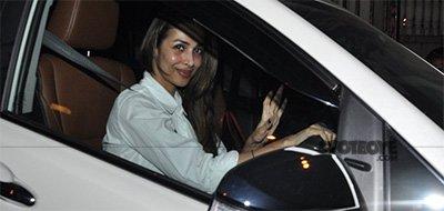 Malaika Arora leaving Amrita Arora House Party