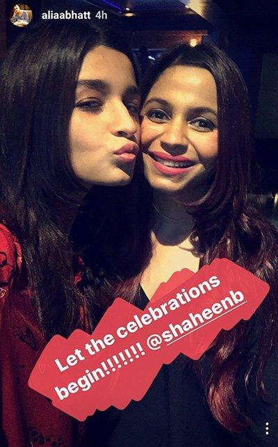 Alia Bhatt celebrates Shaheen Bhatt's birthday
