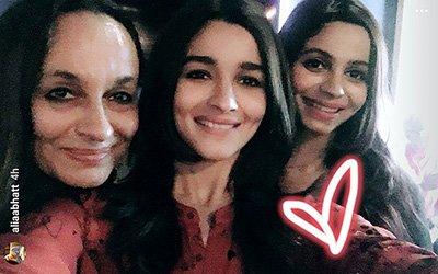 Alia Bhatt And Soni Razdan celebrate Shaheen Bhatt's birthday