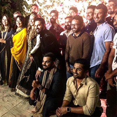 Virat Kohli And The Indian Team Gather For Yuvi And Hazel Wedding