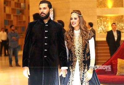 The Lalit Chandigarh for the ceremony yuvi and hazel attended by indian team