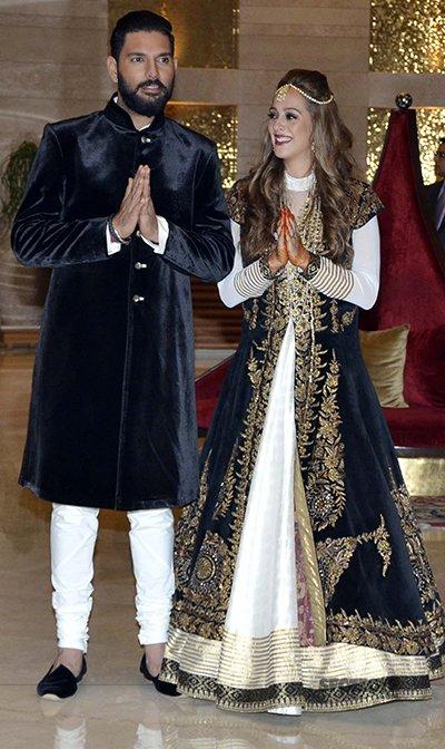 Yuvraj Singh and Hazel Keechs mehendi ceremony