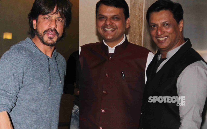 Shah Rukh Khan, CM Fadnavis And Industrialists Attend Madhur Bhandarkar's Housewarming Party