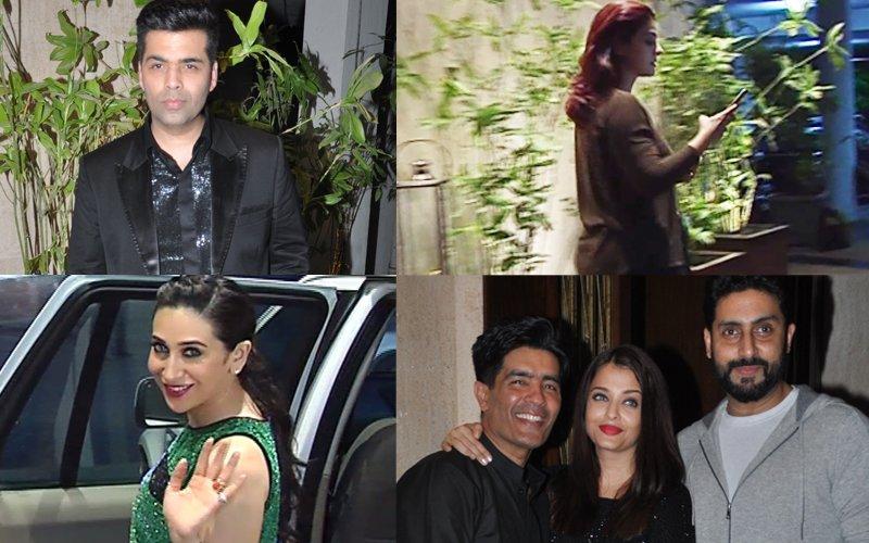 What Happened When Kajol-Karan Johar & Karisma Kapoor-Abhishek Bachchan Met At Manish Malhotra's Birthday Bash?