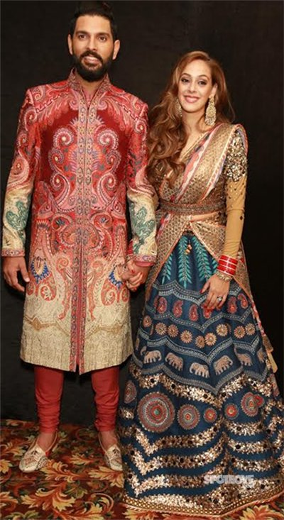 yuvraj singh and hazel keech wedding pics