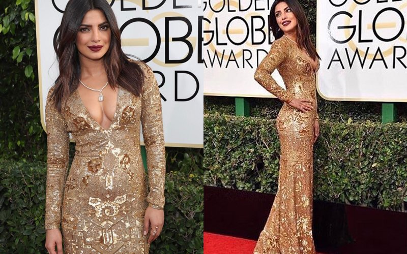 SEXY, SEXIER, SEXIEST: Priyanka Chopra Sizzles In A Glittering Gown At 74th Golden Globe Awards
