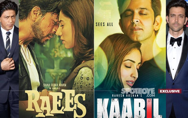 Shah Rukh & Hrithik SWORD FIGHT at Multiplexes for Raees & Kaabil
