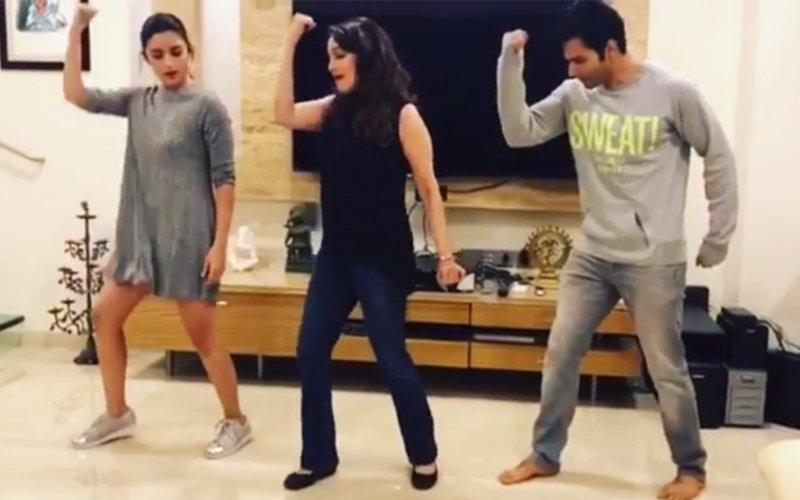 WATCH: Madhuri Makes Varun & Alia Groove To Tamma Tamma