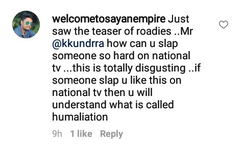 welcometosayanempire criticizes karan kundra for slapping a contestant on national television roadies rising