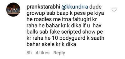 prankstarabhi criticizes karan kundra for slapping a contestant on national television mtv roadies rising