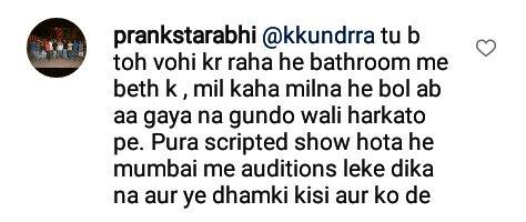 prankstarabhi criticizes karan kundra for slapping a contestant on national television roadies rising