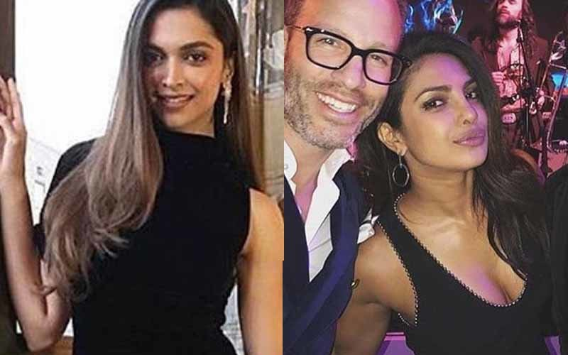 Deepika Padukone & Priyanka Chopra Wear Black For Pre-Oscar Parties