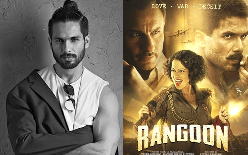 Is Shahid Kapoor Feeling Sh***y After Rangoon's Failure?