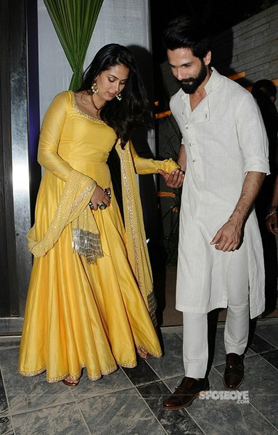 Shahid kapoor and mira at mandana karimis wedding