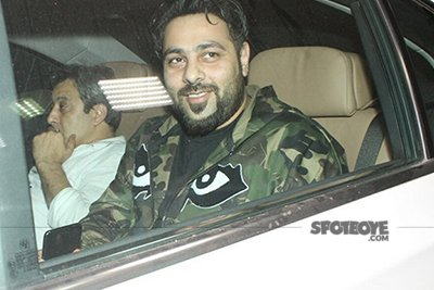 rapper badshah spotted at phillauri screening