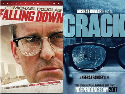 falling down and cracked poster