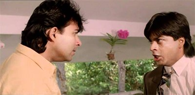 deepak tijori and shah rukh khan in anjaam
