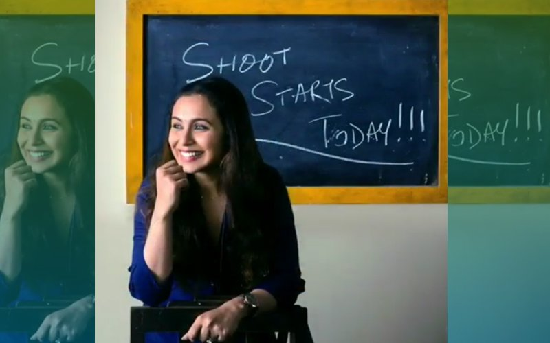 FIRST LOOK: Rani Mukerji Looks Radiant On The First Day Shoot Of Hichki