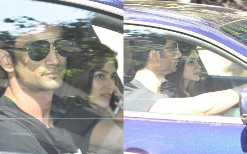 Sushant Singh Rajput Takes Rumoured Girlfriend Kriti Sanon Out For A Ride