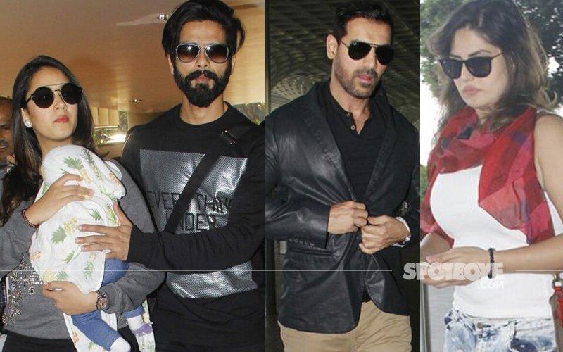 AIRPORT SPOTTING: Shahid Kapoor, Mira Rajput, John Abraham & Zarine Khan's Stylish Avatar