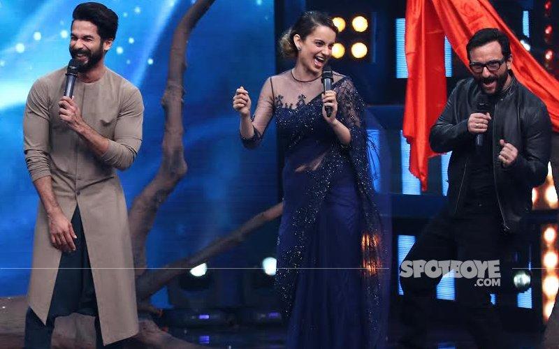 Saif, Kangana, Shahid, Vishal Have A Rangoon Party On Indian Idol