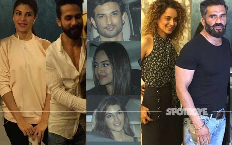Jacqueline, Shahid, Sushant, Kangana, Kriti, Sonakshi, Suniel Enjoy Rangoon