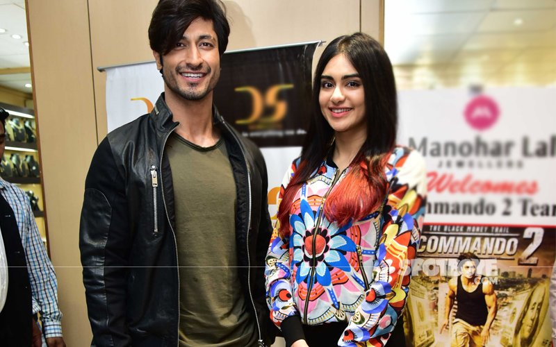 Vidyut Jamwal & Adah Sharma Promote Commando 2 With The Central Industrial Security Force