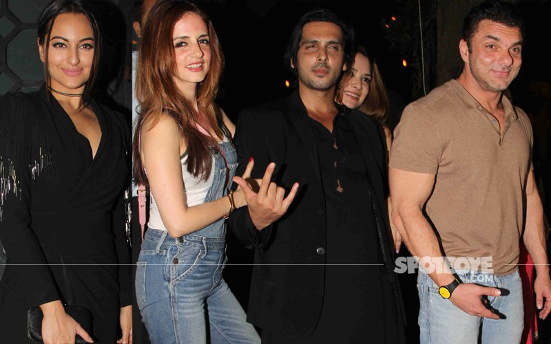 Sonakshi, Sussanne, Zayed, Sohail At The Garware Pre-Wedding Bash