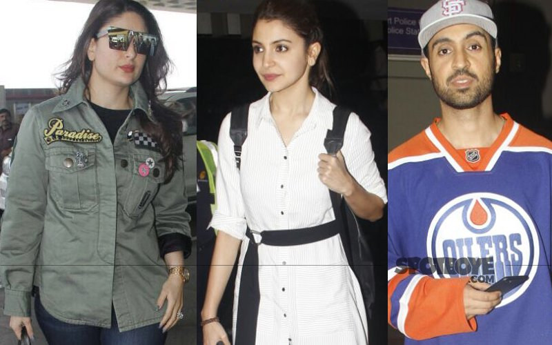 AIRPORT SPOTTING: Kareena Leaves For London, Anushka & Diljit Return To The City