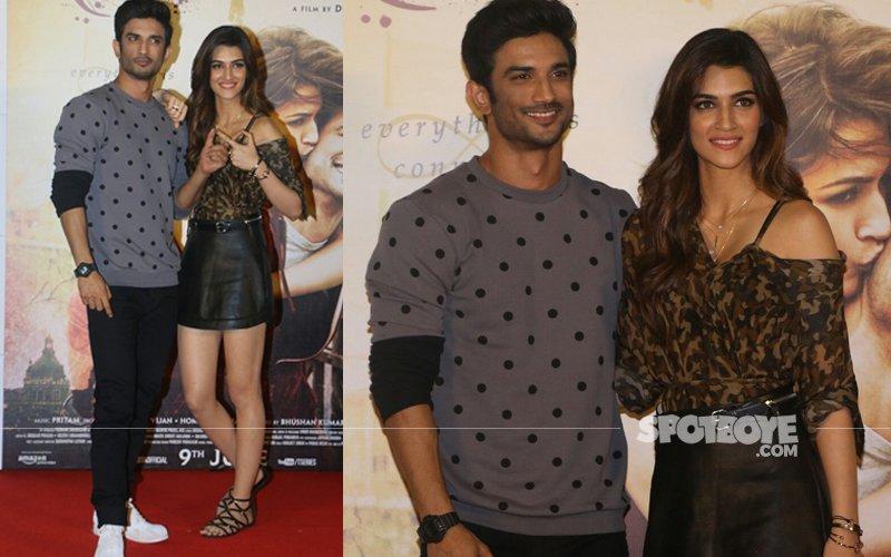 Sushant Singh Rajput And Kriti Sanon Look Cool At The Raabta Trailer Launch