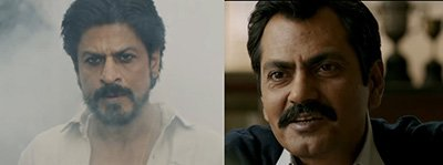 srk and nawazuddin in raees
