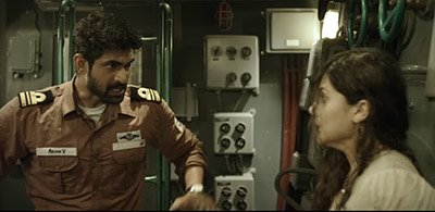 rana daggubati and tapsee pannu in a still from ghazi attack
