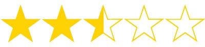 2 5 stars rating for films