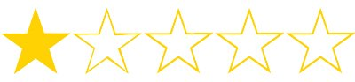 one star movie rating stars