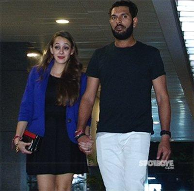 Yuvraj Singh and Hazel Keech Sanpped At Hakkassan .jpg