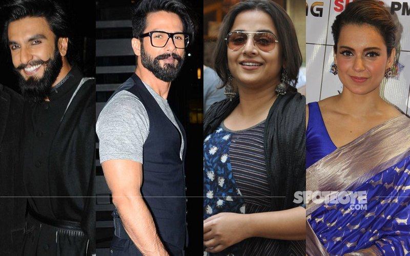 SPOTTED: Ranveer, Shahid & Vidya Keep It Casual While Kangana & Shilpa Glam It Up