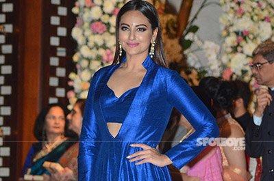 Sonakshi Sinha in blue at Mukesh Ambani's Bash