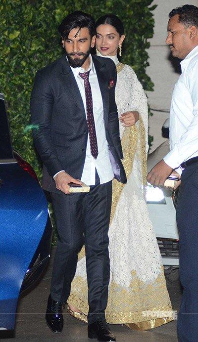Ranveer Singh along with Deepika Padukone at Mukesh Ambani's Bash