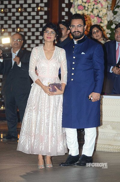 Aamir Khan and Kiran Rao at mukesh Ambani's bash