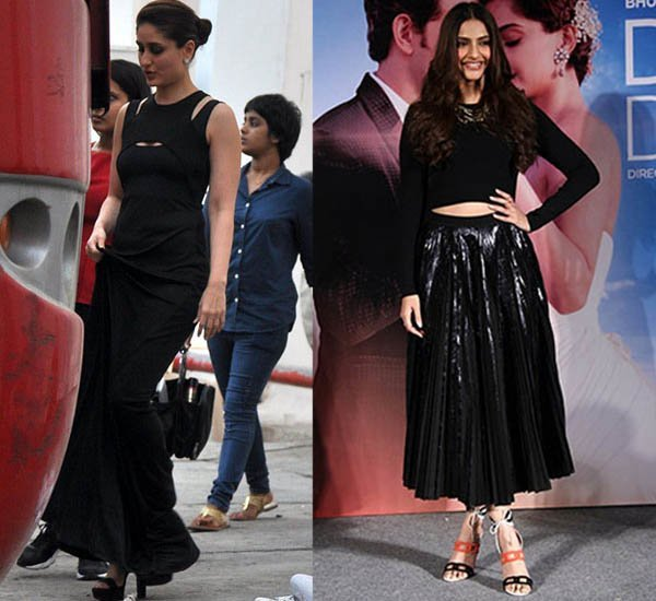 kareena kapoor snapped in the middle of the shoot sonam kapoor went for proenza schouler